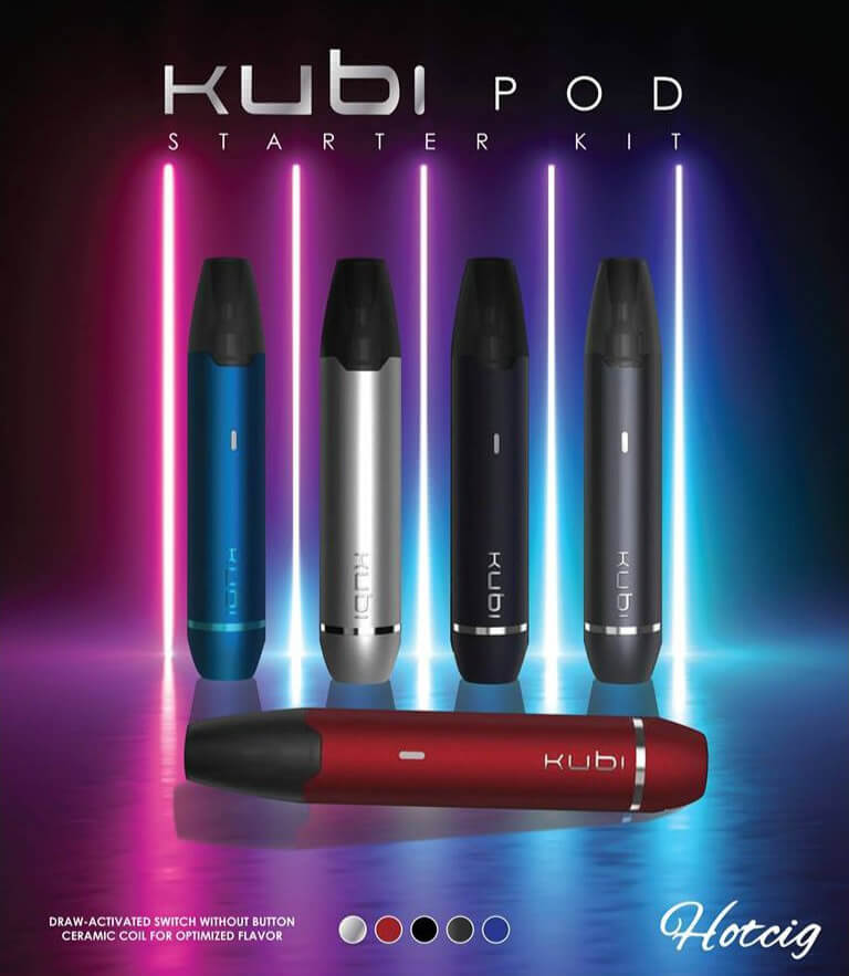 Hotcig Kubi Refillable Pod Starter Kit 550mah